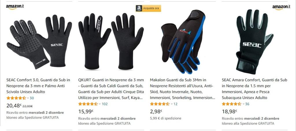 I guanti del sommozzatore